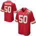 Kansas City Chiefs - J. Houston #50 Home Jersey