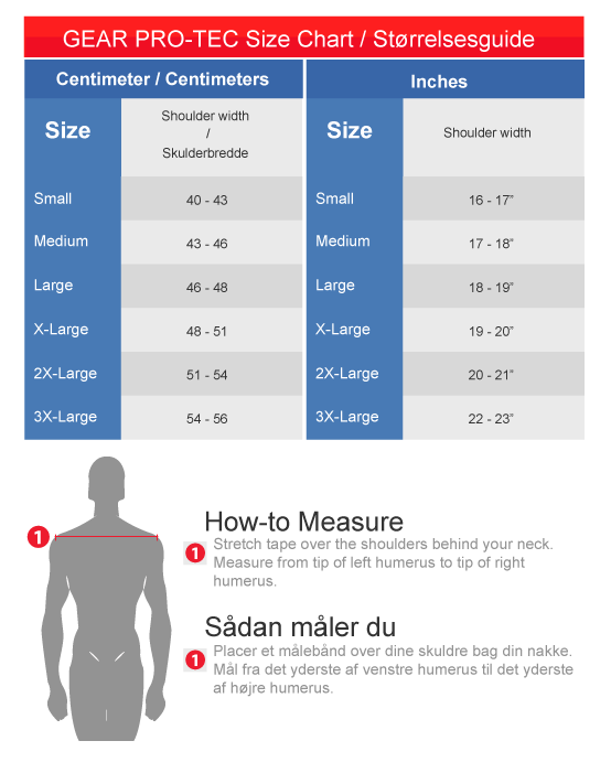 schutt shoulder pad sizing guide